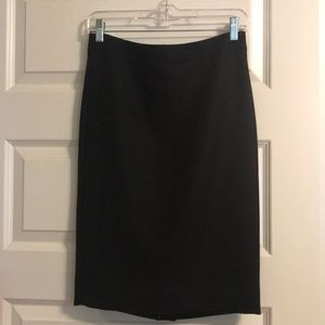 J.Crew black #2 pencil skirt